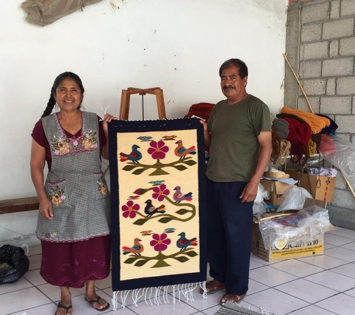 The older generation of Teotitlán weavers.