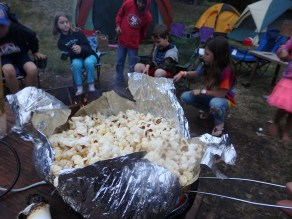 The original camping treat, Jiffy Pop.