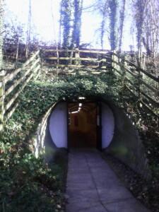 Welwyn Roman Baths entrance