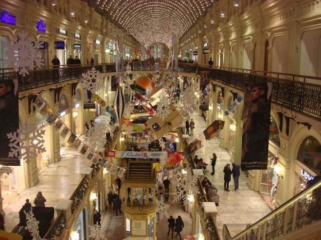 Inside Gum at New Year Moscow
