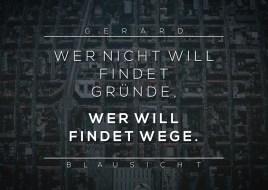 Quote Poster BLAUSICHT