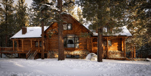 Handcrafted Log Cabin Home
