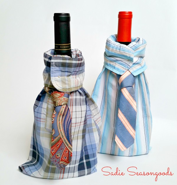 Sadie_Seasongoods_upcycled_mens_shirt_and_tie_wine_gift_bags