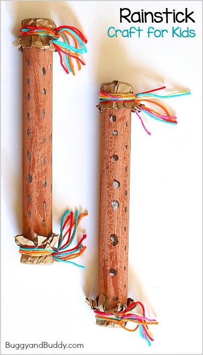 DIY Rainsticks For Kids