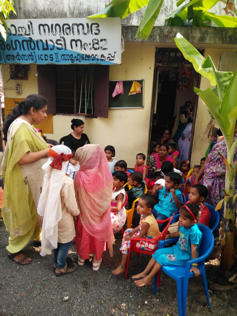 Christmas Celebrations with an Anganwadi