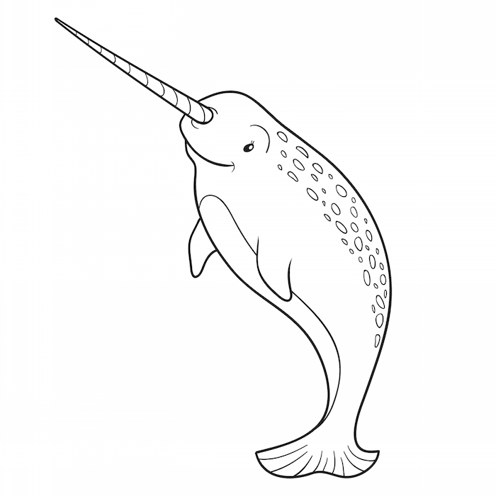 Coloring Pages Narwhal : Ocean games for kids and whale coloring pages