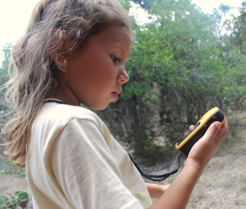 Girls Learning to Geocache- Kid World Citizen