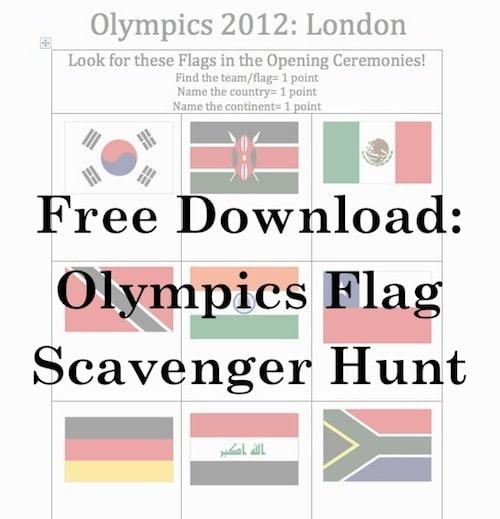 Olympics Flag Scavenger Hunt Opening Ceremonies- Kid World Citizen