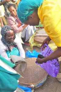 Ethiopia woman selling injera- Kid World Citizen