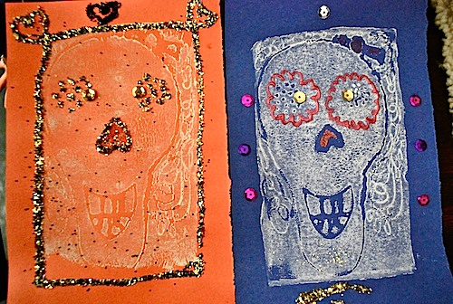 dia de los muertos skull craft, day of the dead skull craft, mexican holidays, latin american holidays, culture, halloween