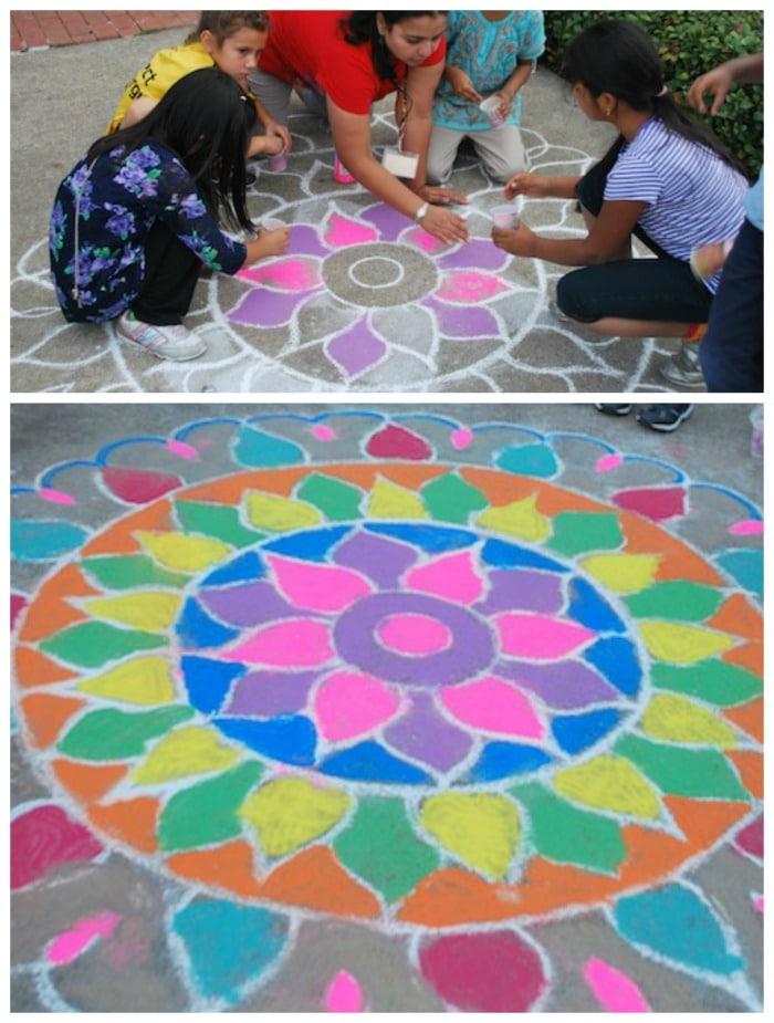 Rangoli Art from india Project- Kid World Citizen