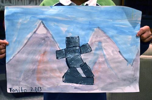 Inukshuk Paintings by Kids- Kid World Citizen