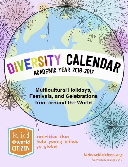 Diversity Calendar 2016 2017- Kid World Citizen