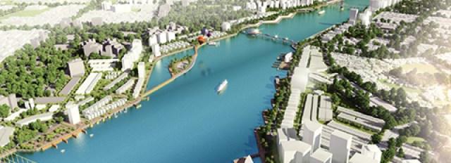 Mô hình phương án quy hoạch sông Hàn do JiNa đề xuất