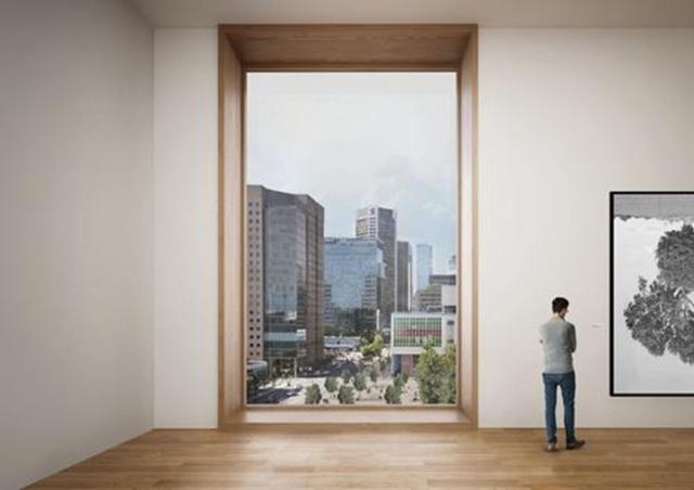 Tầm nhìn từ tầng 5 xuống khu thương mại Queen Elizabeth và trung tâm thành phố.