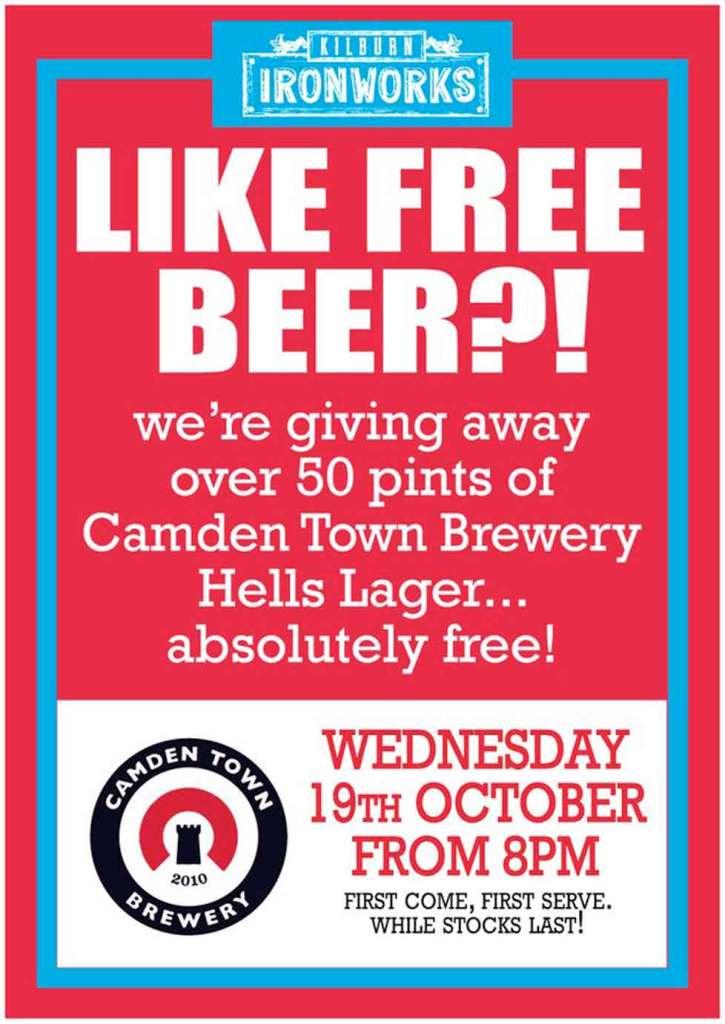 Free Beer in Kilburn