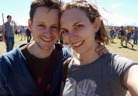 Vliegeren op het Zilker Park kite festival in Austin