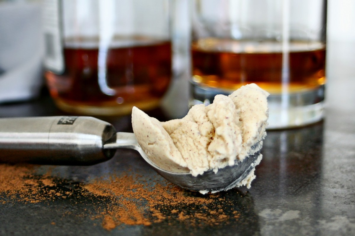 Cinnamon Bourbon Ice Cream