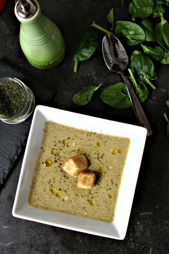 Dill and Spinach Chickpea Soup 3