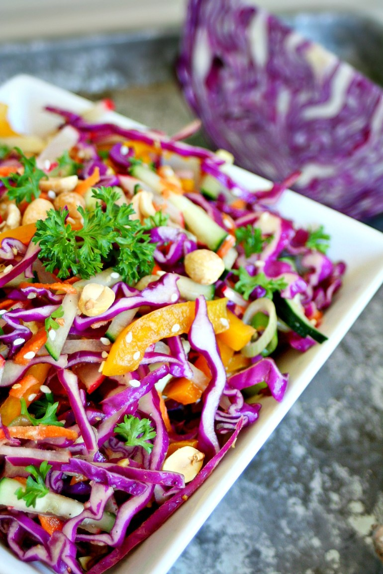 Orange and Ginger Cabbage Slaw with Roasted Peanuts 2