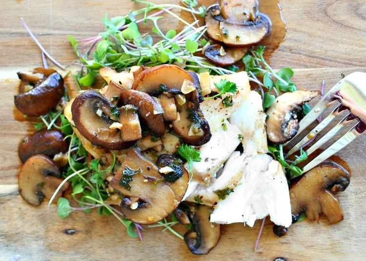 Cod with Beer and Mushroom Sauce header