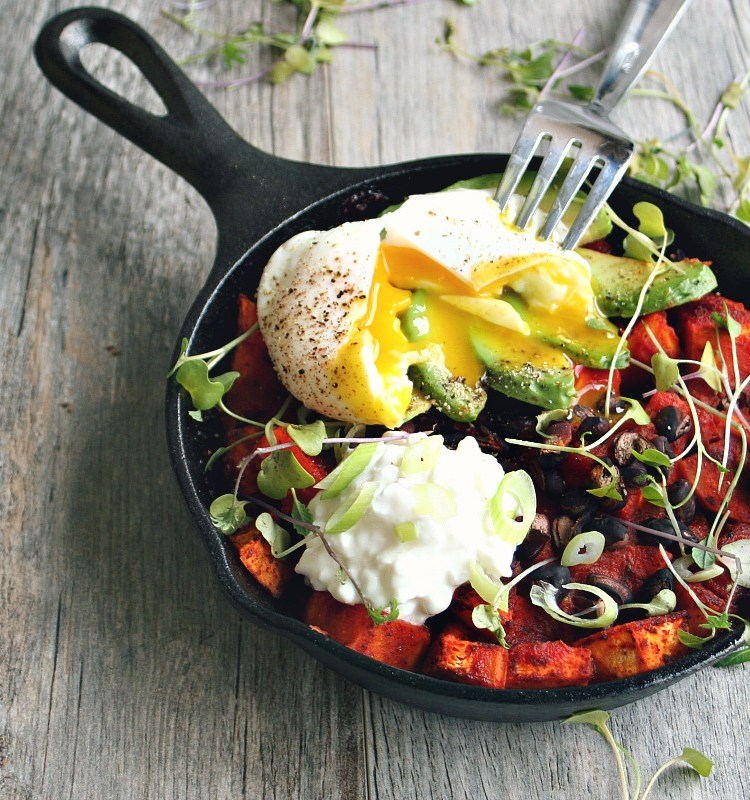 Sweet Potato Brunch Skillet with Poached Egg 3