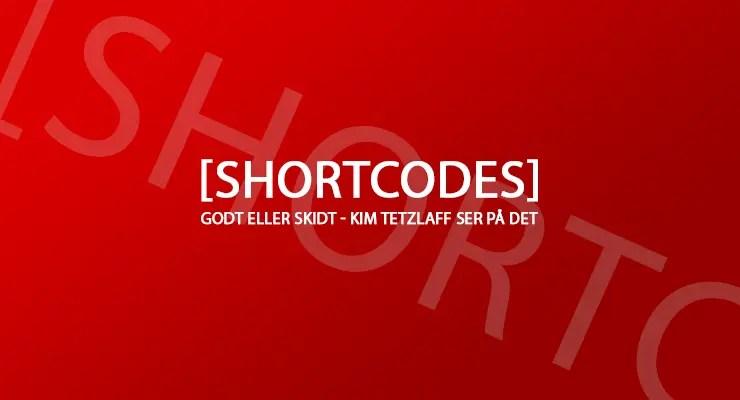 Shortcodes med en bagkant
