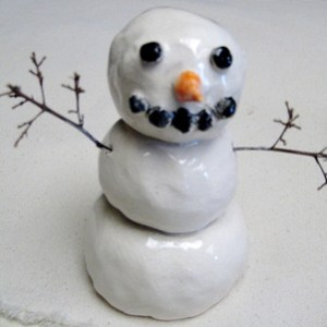 ceramic-snowman-sculptures