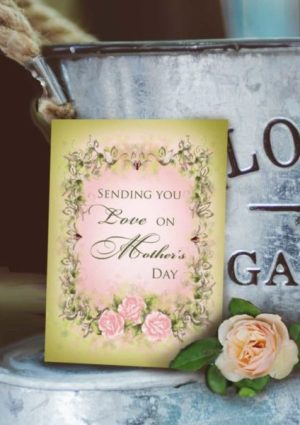 vintage style mother's day card
