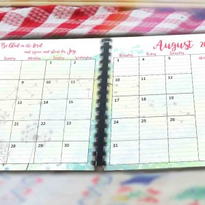August month planner printable pages image