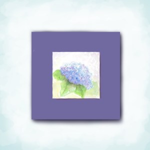 watercolor hydrangea mi-tientes paper mat square card