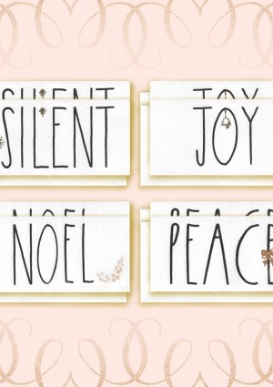 Angel Font Christmas Card bundle