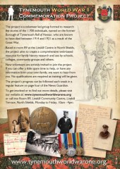 Tynemouth WW1 Project flyer
