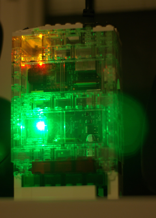 LEDborg fitted to a Raspberry Pi