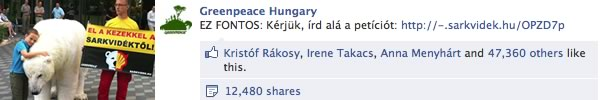Greenpeace.hu social media