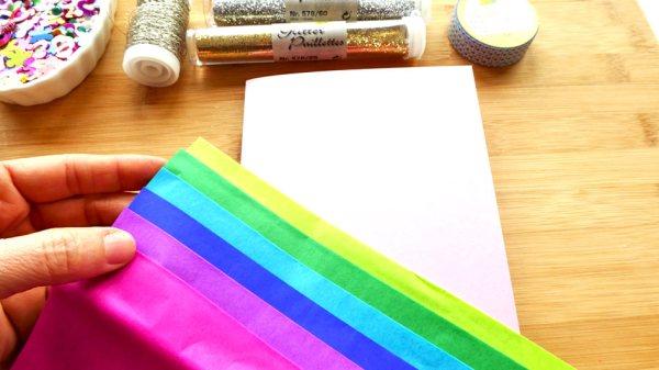 Mit Farben die Karte dekorieren