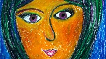 Oil Pastel Portrait