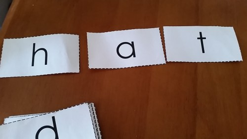 Alphabet Flash Cards for word spelling