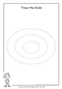 Oval tracing worksheet 3