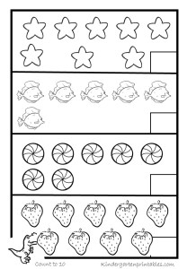 Counting Objects Worksheets 4