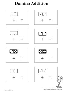 Free Printable Domino Adding Sheets