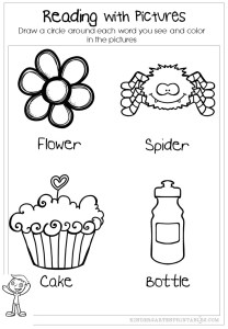 reading with pictures worksheets