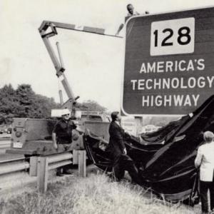 128+Tech+Highway+sign