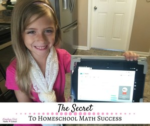 The Secret to Homeschool Math Success