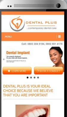 DentalPlus Mobile Responsiveness