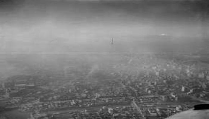 光化学スモッグ 1960年代 上空写真 東京