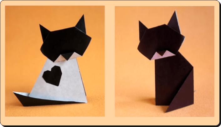 ハロウィン 折り紙 ねこ
