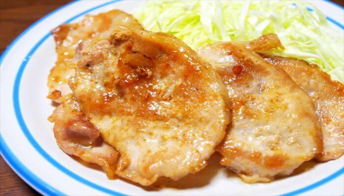 冬 料理 生姜焼き