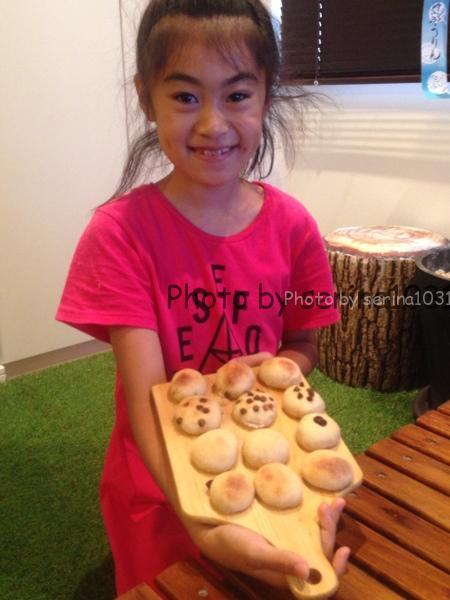 自宅子供パン作り