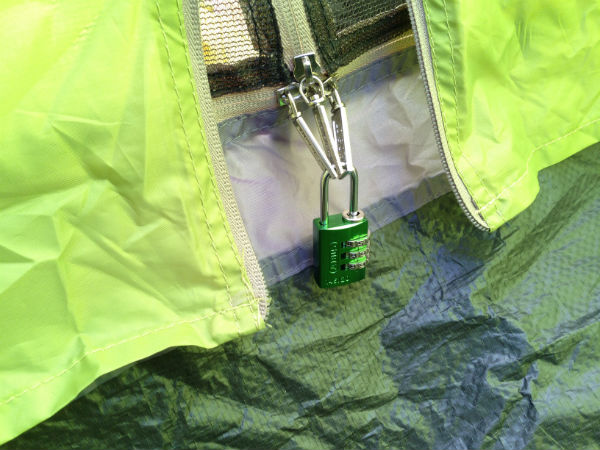 テント防犯鍵